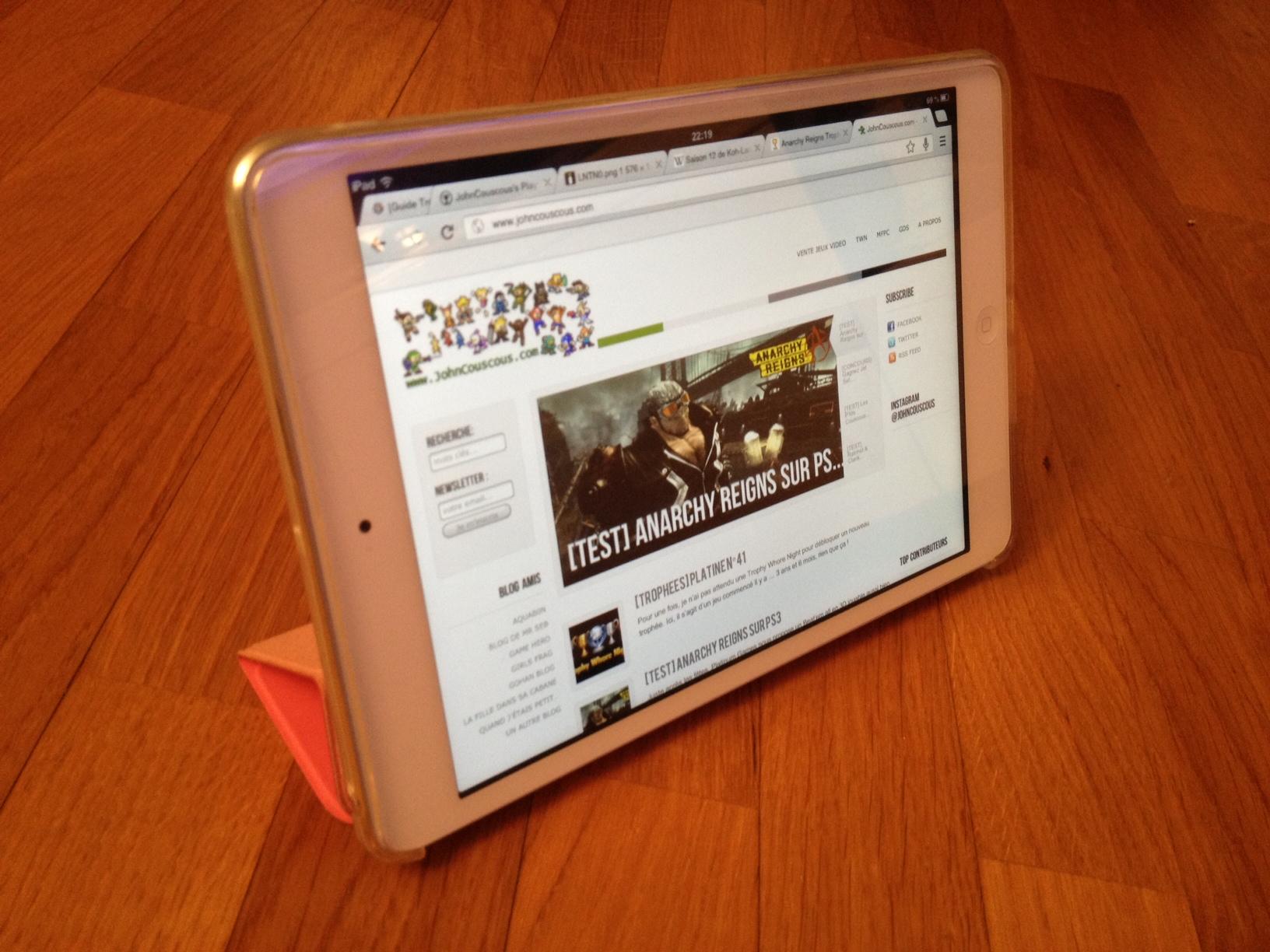 [TEST] Smart Cover FlexiShield pour iPad mini