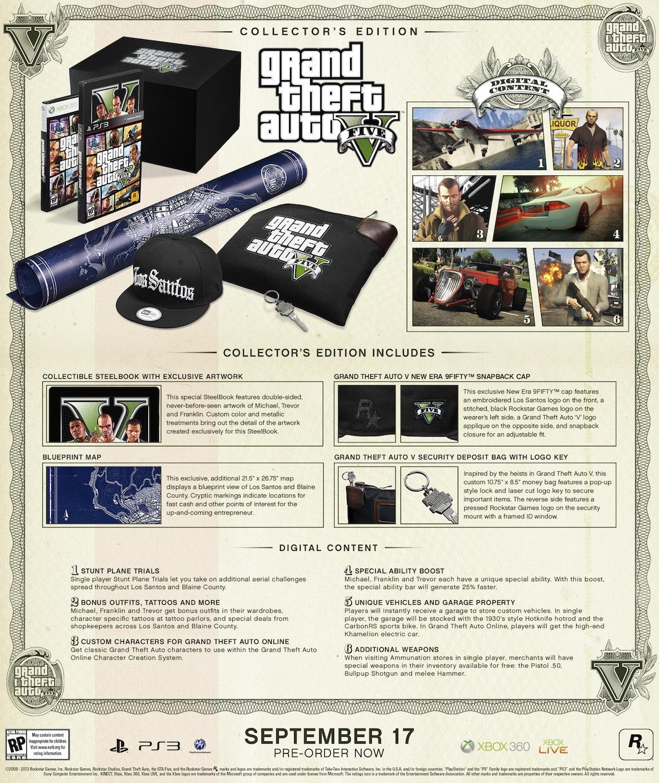 [ANNONCE] Arrivee des editions speciales et collector pour GTA V