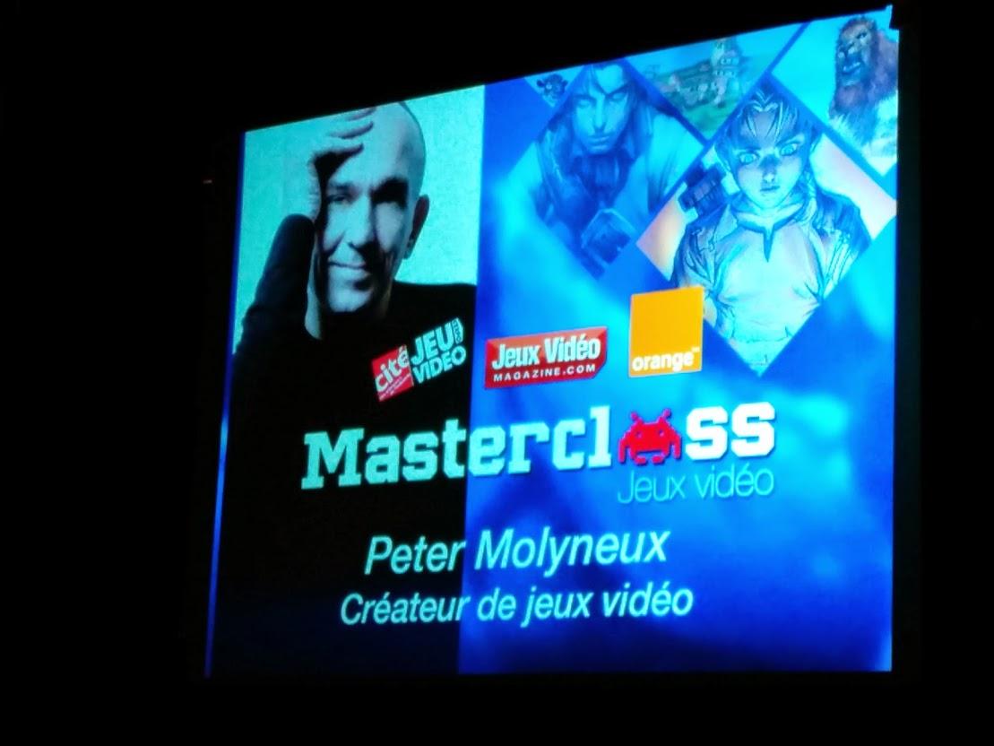 [COMPTE-RENDU] MasterClass avec Peter Molyneux