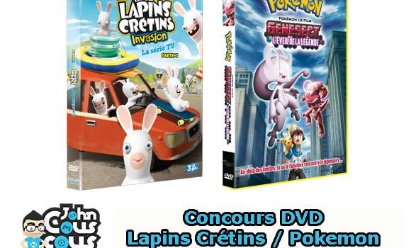 [CONCOURS] Gagnez des DVD Lapins Crétins et Pokemon