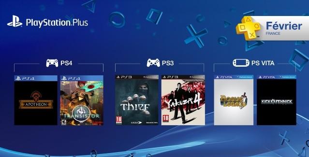 [PS+] Liste des jeux gratuits pour Février 2015