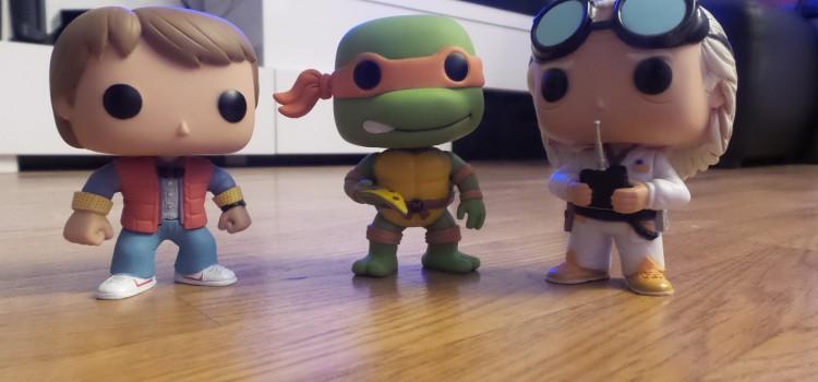 Marty McFly, Emmett Brown, Michelangelo, Turtle van : Les figurines POP!