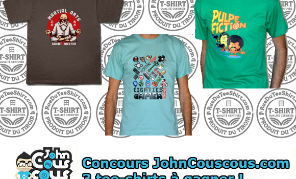 [CONCOURS] Gagnez 3 tee-shirts fun !