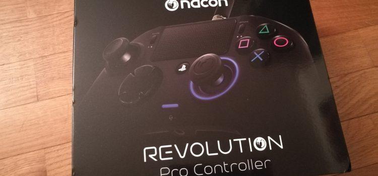 Prise en main de la manette Nacon Revolution : Pro Controller pour PS4