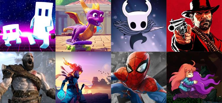 Top 5 des jeux vidéo auxquels j'ai joué en 2018