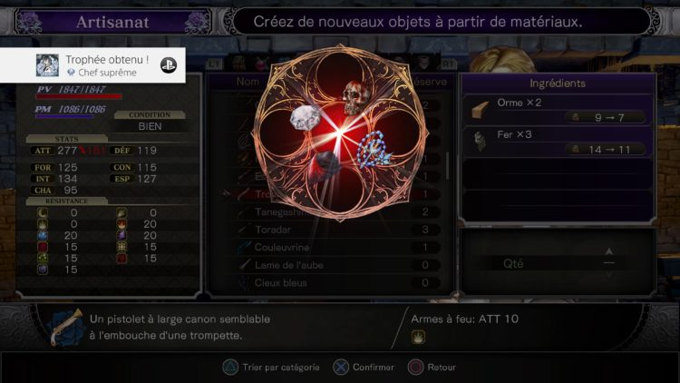 Trophée platine Bloodstained