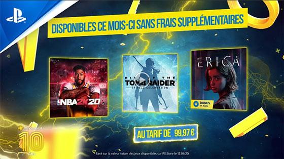 PS Plus Juillet 2020 - Les 10 ans du PS+