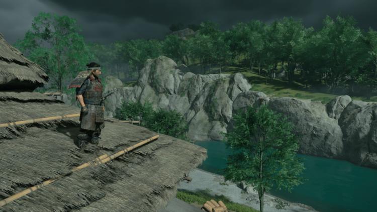 Test Ghost of Tsushima PS4 Pro - Vue depuis un toit