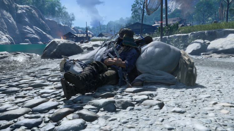 Test Ghost of Tsushima PS4 Pro - Posé sur mon poney