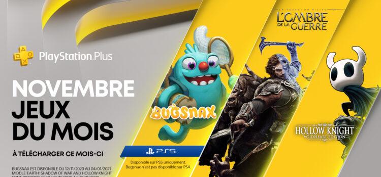 Les jeux gratuits du PS+ pour Novembre 2020