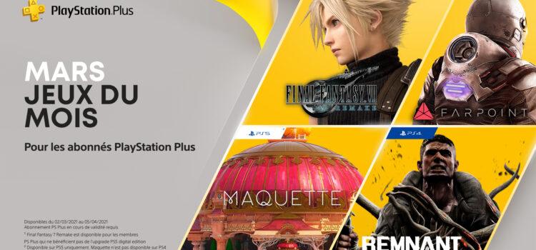 Les jeux PS4 et PS5 offerts pour Mars 2021 (PS Plus)