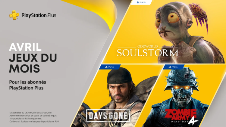 PS Plus Avril 2021