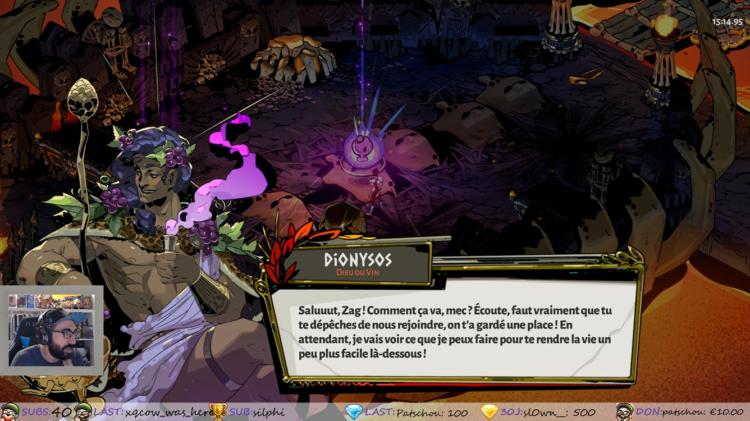 Découverte Hades sur PS5 en stream